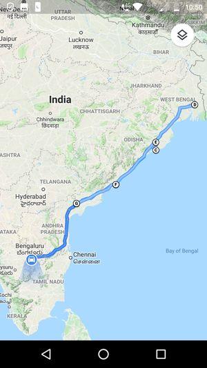 Bangalore > Kolkata > Bangalore - A 4000km Roadtrip via Vizag & Puri