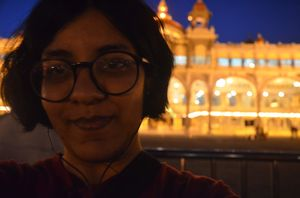 When your dead tired face lights up with the palace lights!  #SelfieWithAView and #TripotoCommunity