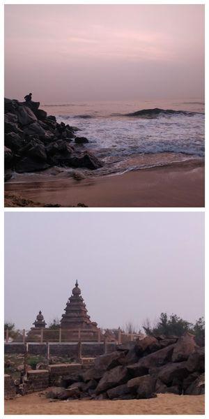 Chasing the sunrise at Mahabalipuram!!