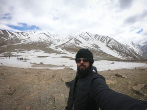 Not so easy to click a selfie with shivering hands :P  #SelfieWithAView #TripotoCommunity