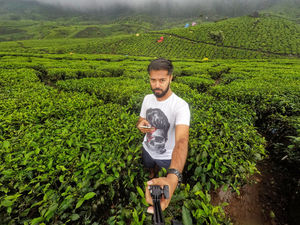 Nothing like a lush green tea plantation! #SelfieWithAView #TripotoCommunity