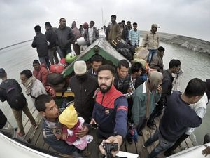 That's not even a fourth of the people this boat is carrying :P #SelfieWithAView #TripotoCommunity