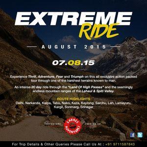 Extreme ride Spiti-Leh circuit