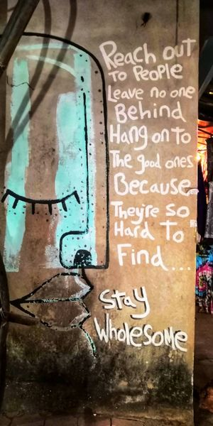 Not just beaches, but fall in love with the streetart at Gokarna.