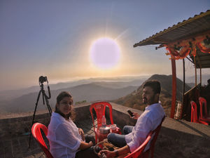 Couple Goals. Morning breakfast with a view #selfiewithaview