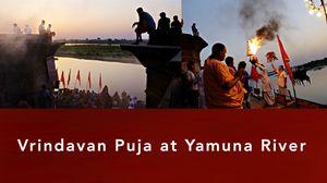 VRINDAVAN Puja at YAMUNA River