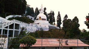 A place for divine enlightenment-Japanesse Peace Pagoda