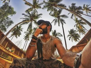 #TripotoCommunity #SelfieWithAView A quick selfie with the mighty Coconut Trees of Goa!