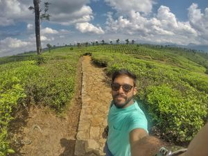 Some green vibes from the farms of Valparai. #SelfieWithAView #TripotoCommunity