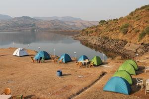 Camping at Pawana Lake