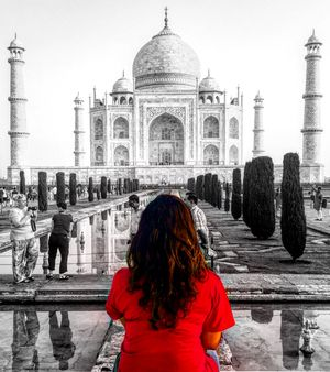 Story of a girl who had never seen the Taj Mahal for real!