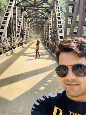 Chicham Bridge- The highest bridge in Asia @13596 ft #SelfieWithAView #TripotoCommunity