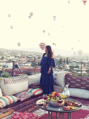 A dream to wake up to hundreds of balloons floating just above you.""