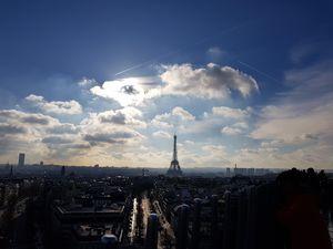 Romance in the love capital city of Paris