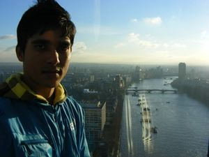 Thames from LONDON EYE.#SelfieWithAView##TripotoCommunity