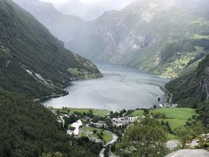 Breathtaking view of Geiranger fjord #nofilter