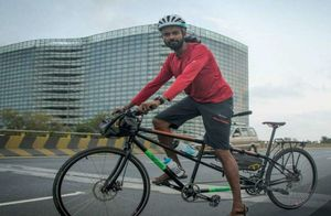 This Man Is Cycling From Chennai To Germany To Raise Awareness About Human Trafficking