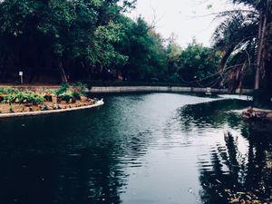 Peaceful Lake garden of Delhi