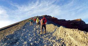 A trek in Lombok Island