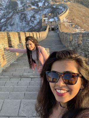 The Great Wall of China ????????  #SelfieWithAView #TripotoCommunity