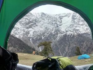Trek to Triund (snowline)