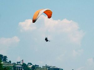 'Up above the world so high' .#adventureactivity  Exhilarating Experience of Paragliding in Khajjiar