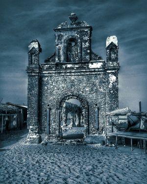Abandoned church of Dhanushkodi