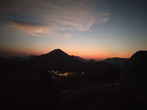 A view of Sun's fiery kiss to the night - Gudibande Fort