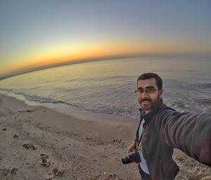 #selfiewithaview #tripotocommunity Sunrise selfie at Mandvi beach in Gujarat.