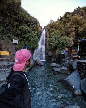 Selfie with Bhagsu nag waterfall, mcleod ganj  #travel #SelfieWithAView #TripotoCommunity