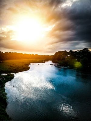 this was shot at pamba river in kerala during sunset