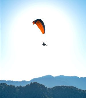 I'm on top of the world #paragliding #birbilling #BestTravelPictures