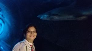 Selfi with ???? shark#Solo traval# Dubai aquarium #