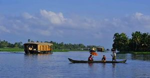 Backwaters of Kerala, lazy afternoon