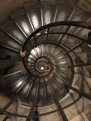 #lookingdown to beautiful archaic stairs inside this massive structure #nofilter#BestTravelPictures
