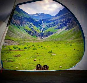 I woke up in the morning and saw this mesmerizing view from my tent at the lower waterfall.