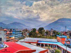 A beautiful view from my room in Nepal...
