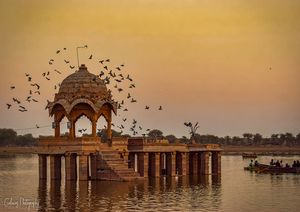Golden Hours at Gadisar Lake, Jaisalmer #tripotocommunity