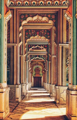 The ninth gate of Jaipur and the most picturesque one.