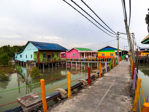 Pulau Ketam - Cycling on Paved Roads Held Up by Stilts