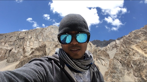 The cold desert.... #SelfieWithAView #TripotoCommunity