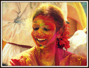 Basanta utsav and holi at shantiniketan