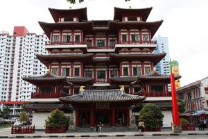 Bold red streets of Singapore portraying ancestral culture at its best - The Chinatown