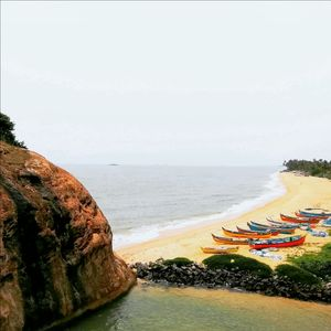 Beautiful view from top of a rock in kapu beach,Udupi!!