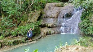 Waterfall Tubing in Jogja - Yogyakarta, Indonesia
