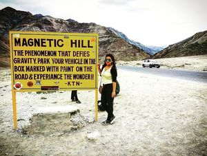 """The literal meaning of """"mountains are calling"""" Magnetic Hill"""