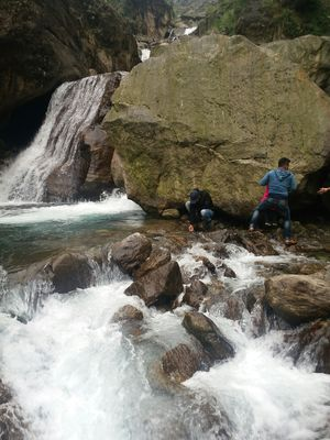 A STUNING WATERFALL ENROUTE TO CHUNGTHANG