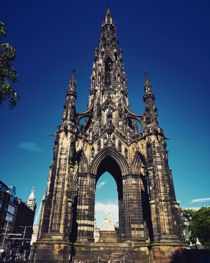 The Scott Monument is a Victorian Gothic monument to Scottish authorSir Walter Scott