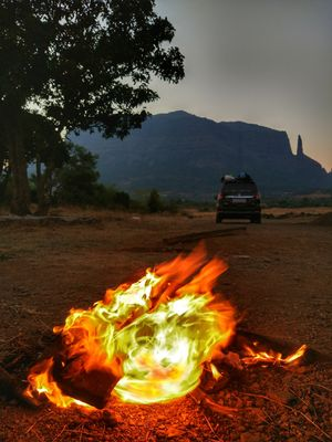 Early morning Campfire .. #maharashtra