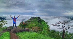 Trek in the  clouds - KOHOJ FORT #maharashtratreks#monsoonplace